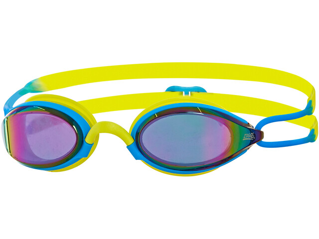 Zoggs Podium Titanium Googles Blue/Lime/Mirror